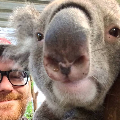 Mike Paul and Koala